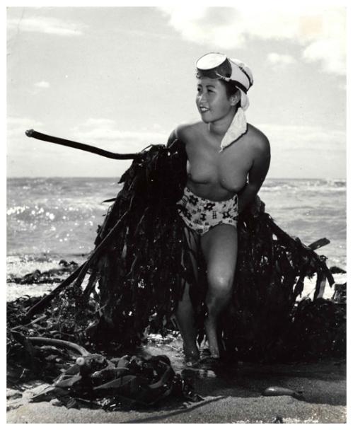 Hauling in Seaweed, 1947, Yoshiyuki Iwasae
